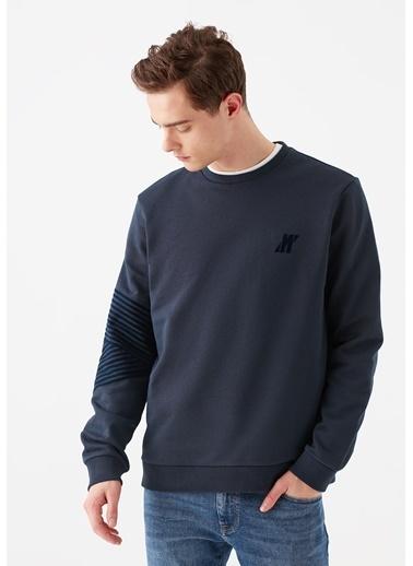 Mavi Mavi Logo Baskılı  Swetshirt Lacivert